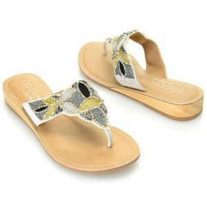 Coconuts by Matisse Beaded Thong Wedge Sandals